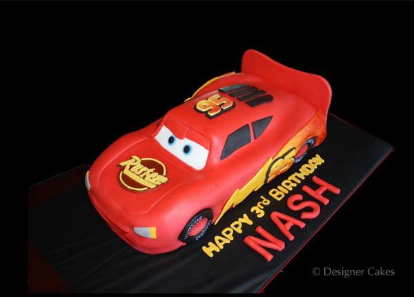 Lightning McQueen Sculpted Cake