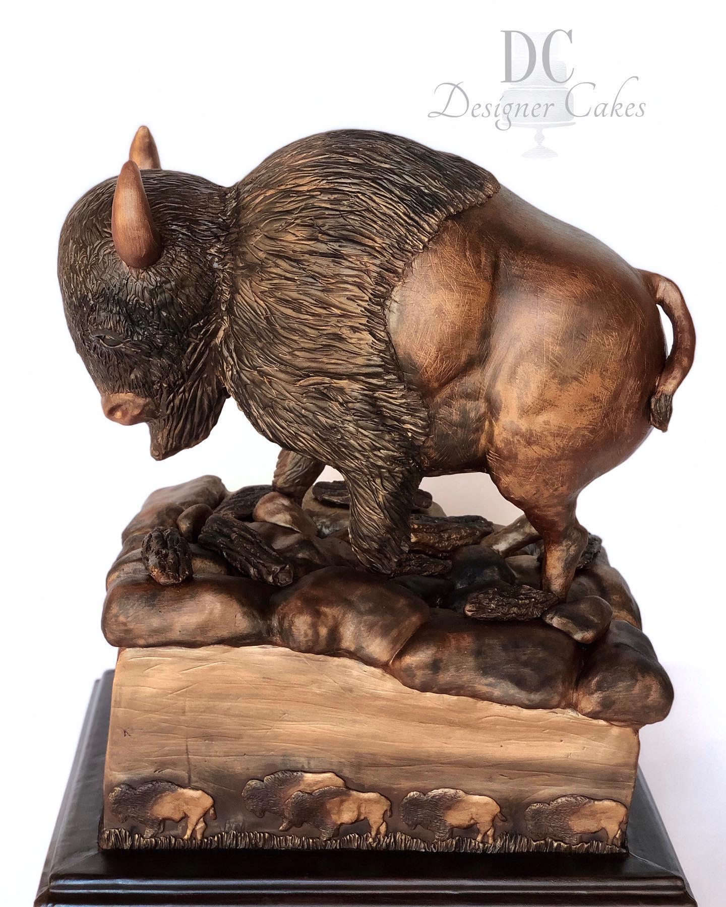 Sculpted Buffalo Cake